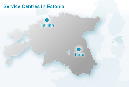 Service centres are in Tallinn and Tartu