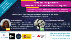 Image of (459515) Researchers' Night: Scientific dialogue between Spanish and Brazilian top researchers on astronomy