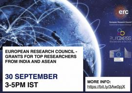 Image of (687326) Webinar: European Research Council - Grants for Top Researchers from India and ASEAN