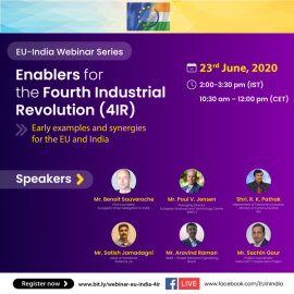 Image of (534936) Enablers for the Fourth Industrial Revolution (4IR) – Early examples and synergies for the EU and India