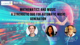 Image of (633778) Meet My lab: 'Mathematics and Music - A Synergetic Duo for Automatic Music Generation'