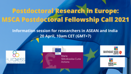 Image of (626613) Webinar: How to apply for a fully funded Postdoc in Europe - MSCA PF 2021 Call