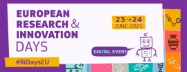 European Research and Innovation Days 2021 event graphic