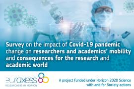 Image of (556121) Invitation to participate in a survey on the impact of Covid-19 on researchers' work and mobility