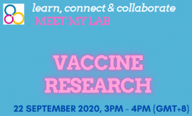 Image of (556677) 'Meet my Lab': Vaccine Research - on-line event