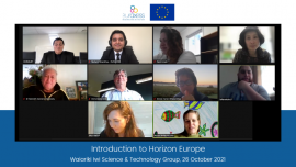 Horizon Europe Information Session for the Waiariki Iwi Science & Technology Group