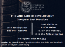 Image of (596640) PhD and Career Development Good Year  best practices _webinar January 25 2021